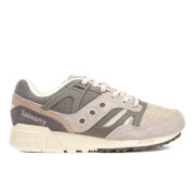 Saucony Men's Grid SD Quilted Heritage Trainers - Grey/Light Tan