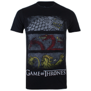 Game of Thrones Sigil Banners Heren T-Shirt - Zwart