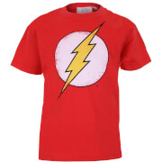 DC Comics Boys' The Flash Distress Logo Heren T-Shirt - Rood