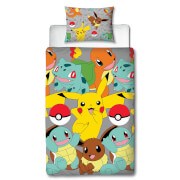Pokémon Characters Single Rotary Duvet Cover Set
