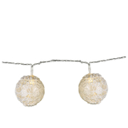 Parlane Lace Globe Garland Lights - White (Set of 10)
