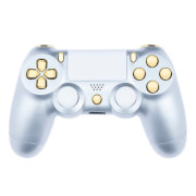 Playstation 4 Custom Controller - Gloss Silver & Gold