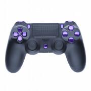 Manette PS4 Custom -Noir Mat & Violet Métallique