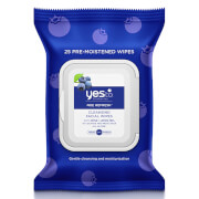 yes to Blueberries Cleansing Facial Wipes (Pack of 25)