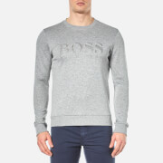 BOSS Green Men's Salbo Logo Sweatshirt - Pastel Grey