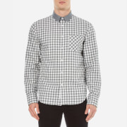 rag & bone Men's Yokohama Long Sleeve Shirt - White/Grey