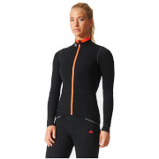 adidas Women's Supernova Rompighiaccio Long Sleeve Jersey - Black/Red
