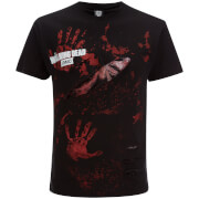 T-Shirt Homme Spiral Walking Dead Michonne All Infected -Noir