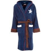 Marvel Men's Captain America: Civil War Outfit Robe - Navy