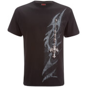 Spiral Men's Tribal Chain T-Shirt - Black