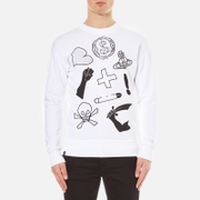 Vivienne Westwood Anglomania Men's News Sweatshirt - White