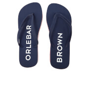 Orlebar Brown Men's Efren Flip Flops - Navy/Rescue Red/White