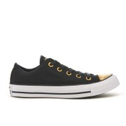 Converse Women's Chuck Taylor All Star Ox Trainers - Black/Gold/White