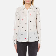 Maison Scotch Women's Basic Printed Shirt - White