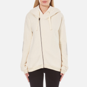 Maison Scotch Women's Home Alone Double Hooded Sweatshirt with Zip Closure - White