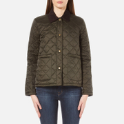 Barbour Heritage Women's Summer Cropped Border Jacket - Sage