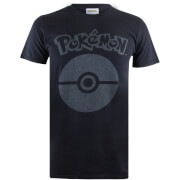 Pokemon Herren Pokeball Symbol T-Shirt - Schwarz
