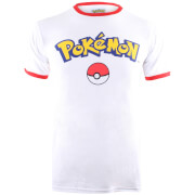 Pokemon Men's Logo T-Shirt - White/Red
