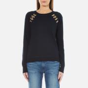 MICHAEL MICHAEL KORS Women's Laced Grommet Sweatshirt - New Navy