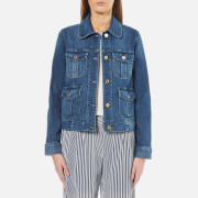 MICHAEL MICHAEL KORS Women's Cargo Pocket Jacket - Vintage Blue Wash
