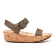 FitFlop Women's Bon Lizard Print Sandals - Chocolate Brown