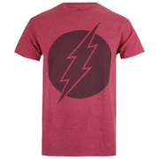 DC Comics Men's Vintage Flash T-Shirt - Heather Cardinal