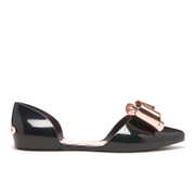 Ted Baker Women's Iela Bow Front Pointed Flats - Black/Rose Gold