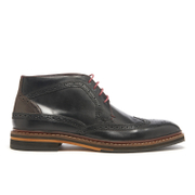Ted Baker Men's Cinika Leather Brogue Chukka Boots - Black/Dark Brown