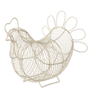 Eddingtons Chicken Egg Basket - Cream