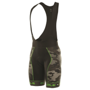 Alé PRR Roubaix Camo Bib Shorts - Black/Green