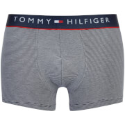 Tommy Hilfiger Men's Cotton Flex Trunks - Navy White/Stripe