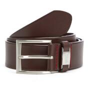 HUGO Men's C-Connio Leather Belt - Dark Brown