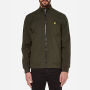 Lyle & Scott Men's Zip Through Funnel Neck Soft Shell Jacket - Dark Sage