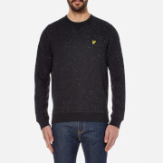 Lyle & Scott Men's Brushed Flecked Crew Neck Sweatshirt - True Black