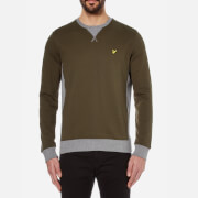 Lyle & Scott Men's Contrast Rib Crew Neck Sweatshirt - Dark Sage