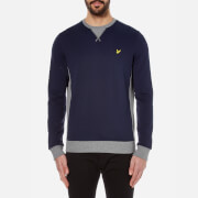 Lyle & Scott Men's Contrast Rib Crew Neck Sweatshirt - Navy