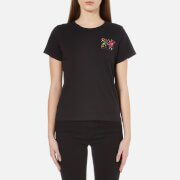 Marc Jacobs Women's Embroidered MTV Classic T-Shirt - Black