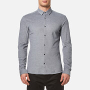 HUGO Men's Ero3 Long Sleeve Shirt - Navy