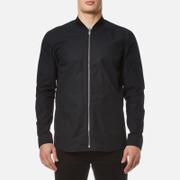 HUGO Men's Esuper Zipped Long Sleeve Shirt - Black