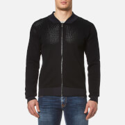 HUGO Men's Slop Zipped Knitted Cardigan - Black