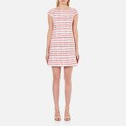 Boutique Moschino Women's Tweed Shift Dress - White