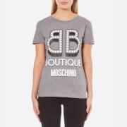Boutique Moschino Women's Pearl Logo T-Shirt - Grey