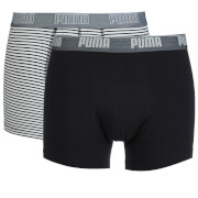Puma Men's 2 Pack Stripe Boxers - Black