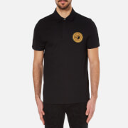 Versace Collection Men's Medusa Badge Polo Shirt - Black