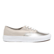 Vans Women's Authentic Decon Metallic Canvas Trainers - Silver