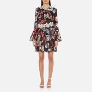 MSGM Women's Floral Dress - Black