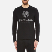 Versace Jeans Men's Logo Long Sleeve T-Shirt - Black