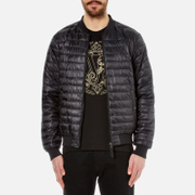Versace Jeans Men's Mechanical Baroque Printed Reversible Bomber Jacket - Black