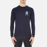 Versace Jeans Men's Logo Knitted Jumper - Navy