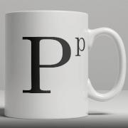 Alphabet Keramik Designer Tasse - Buchstabe P
